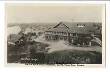 Vintage Postcard RPPC French River Ontario Chalet Bungalow Camps Main Lodge
