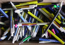 Misprint Pens  Nice writing! Clip On THIN  Retractable BULK C LOT of 50