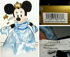 QUEEN MINNIE PLUSH DISNEY STORE 25Cm. Peluche Bean Bag Toy Topolino Mickey Mouse