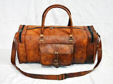 goatstuff real leather travel luggage GYM BAG  VLC vintage bag briefcase 22""