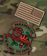 AFSOC PEDRO PJ MEDEVAC COMBAT RESCUE: Cheshire Cat We're All Mad Here + DD Flag
