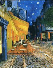 "Cafe Terrace At Night by Vincent Van Gogh, 12.5""x16"", Giclee Canvas Print"