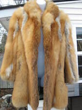 Genuine RED FOX FUR 3/4 LENGTH COAT in GREAT CONDITION JOHN PAPPAS FURS
