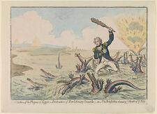James Gillray Cartoon Lord Nelson Crocodiles Nile Egypt 1798  7x5 Inch Reprint