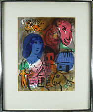 "Marc Chagall ( 1887-1985) Original colour lithograph ""Hommage to Marc Chagall"""