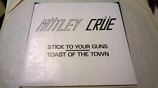 MOTLEY CRUE STICK TO YOUR GUNS LEATHUR RECORDS 45 VINYL SINGLE kiss guns halen
