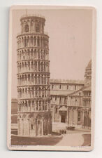 Vintage CDV Leaning Tower of Pisa Van Lint photo Pisa
