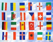 HUGE 33FT EUROPEAN FABRIC FLAGS X LARGE BUNTING