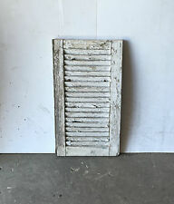 """1 Vtg House Window Wood Louvered Shutter Shabby Old Chic 25"""" X 14"""" 836-16"""