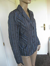 Bonita zauberhafte Jacke 42 blau/schwarz gestreift