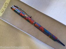 NEW USA Handcrafted Polymer Clay Pen MULTI COLOR SPARKLY MOSAIC Med Point SW003