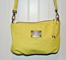 VANS OFF THE WALL Cross Body Bag Purse VIVID Pebbled Yellow Faux Leather