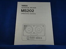 Yamaha MS202 Monitor Speaker Owner's Manual