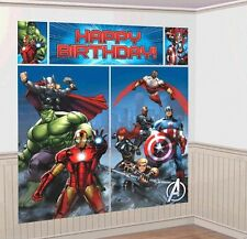 Avengers Heros Wall Decoration Kit, Scene Setter Happy Birthday Party Supplies