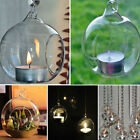 Romantic Hanging Crystal Glass Candle Holder Fine Wedding Dinner Decoration