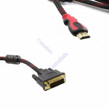 US Seller DVI-D to HDMI Monitor Display Adapter Cable Male to Male HD HDTV 6Ft