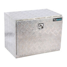 "24"" Aluminum Camper Tool Box W/ Lock Pickup Truck Bed ATV Trailer Storage US"