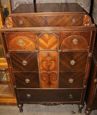 Art Deco Depression Era Chest of Drawers with Inlay