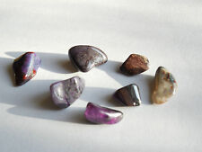 7pc RARE TUMBLED SUGILITE from SOUTH AFRICA 10-15mm  7.5g Minerals #3A ORGONE