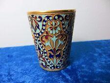 Russian Vodka Cup. Brass enameled.1946-1953. (RR137)