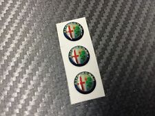 3 Adesivi Stickers ALFA ROMEO New Color 10 mm 3D resinati telecomando
