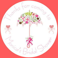 24 BRIDAL SHOWER/ HEN PARTY GLOSS PERSONALISED STICKERS, SEALS, LABELS