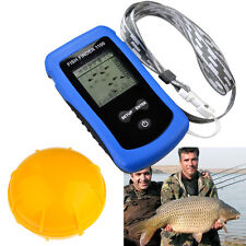 Wireless Fish Finder Portable Sonar Sensor Alarm LCD Transducer Depth Finder Sea