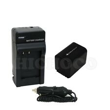 2600mAh Battery+Charger with Car Adapter Combo Set for Sony NP-FV70 InfoLithium