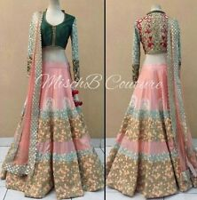 Indian bollywood, designer, mariage rose & emerald lehenga, Chanya choli