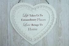 Placa de corazón nos lleve la vida a lugares extraordinario amor nos trae Home F1665B