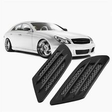 Car Side Air Flow Vent Hole Cover Fender Intake Grille Decoration Sticker SY