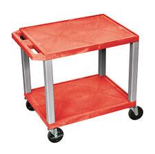 H Wilson Tuffy AV Cart - 2 Shelves Nickel Legs WT26RE-N NEW