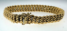 "9ct Yellow Gold 7"" Fancy Woven Link Bracelet (10mm wide)"