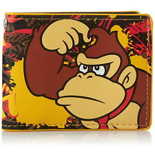 Nuevo Oficial Super Mario Donkey Kong Nintendo Para Hombre / Chicos Clásico Bi-fold Wallet