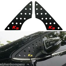 A Pillar 3D Window Glass Molding Sports Plate Set for 2014+ KIA FORTE K3 CERATO