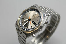Vintage Seiko Chronograph Automatic Stainless Steel Wrist Watch in Good Cond.