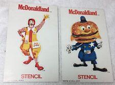 2 Vtg McDonaldland Big Mac & Ronald McDonald Stencil 1973 Printed U.S.A