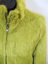 Wilson's Leather Maxima Green Reversible Quilted or Rabbit Fur Jacket Sz L