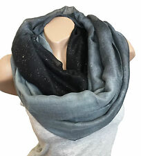 FASHION LOOP DESIGN COLOURS GRADIENT SCARF CIRCLE STYLE GLITTER CHOICE