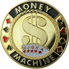 "Poker card guard ""Money Machine"" 24k dorado"