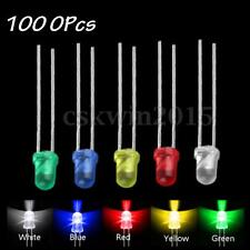 1000Pcs Set 5mm Round Diode LED Blue Green Yellow Red White Lamp Mixed Color Kit