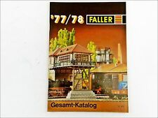 Faller 877 Katalog Spur H0 N ams Hit train car Play 1977 / 1978 mit Preisliste