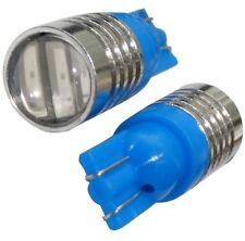 2x ampoule T10 W5W 12V 3LED SMD bleu veilleuses éclairage intérieur plaque