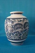 Antique Chinese/Japanese Signed White & Blue Vase