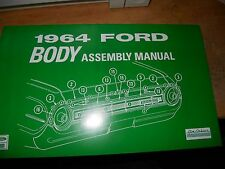 1964 FORD GALAXIE 500 XL CUSTOM 500 FACTORY BODY PARTS ASSEMBLY MANUAL w PART No