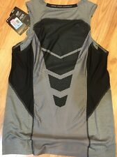 nwt Men's Nike Dri Fit Pro Combat Elite Hypercool FITTED tank S small Grey black