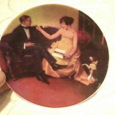 "Norman Rockwell licensed 4"" mini plate in subdued colors with stand chocolates"