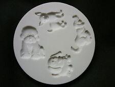 ALPHABET MOULD Cake design cupcake top flexible mould sugarcraft - DOGS