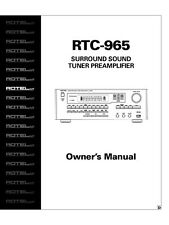 Rotel RTC-965-D Tuner Owners Manual