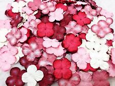 100 Mixed Red Tone & White Hydrangea Flowers mulberry paper for Craft & D.I.Y